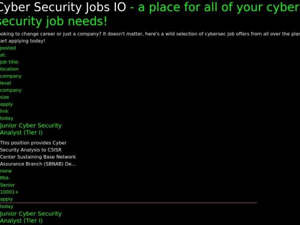 cybersecurityjobs.io